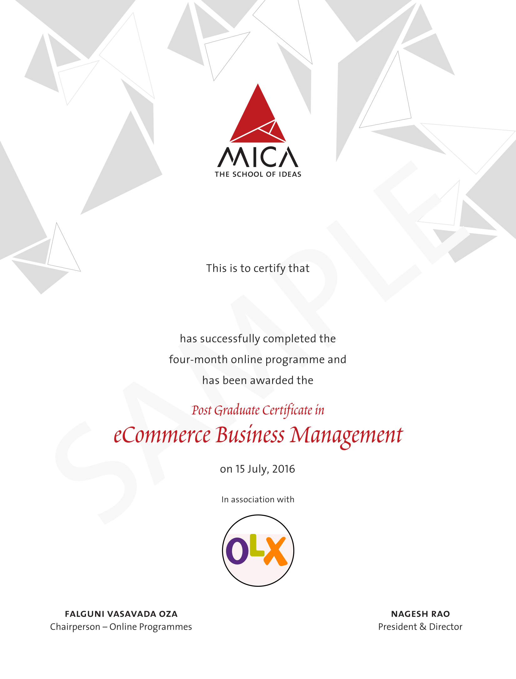 E Commerce Business Management Certification Course From Mica