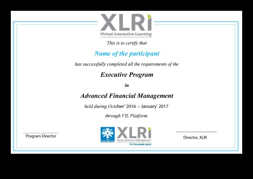 Advanced Financial Management Course Online Certification Program