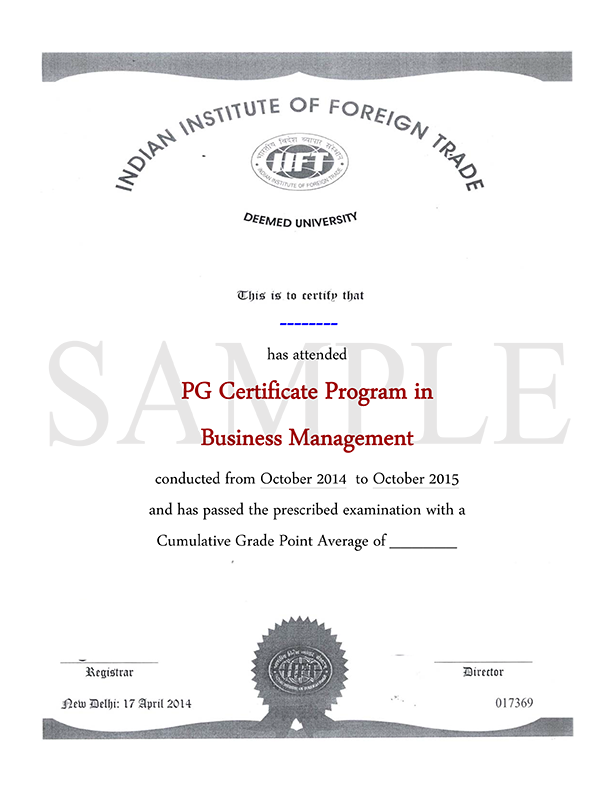 Online Business Management Certification Course From Iift India