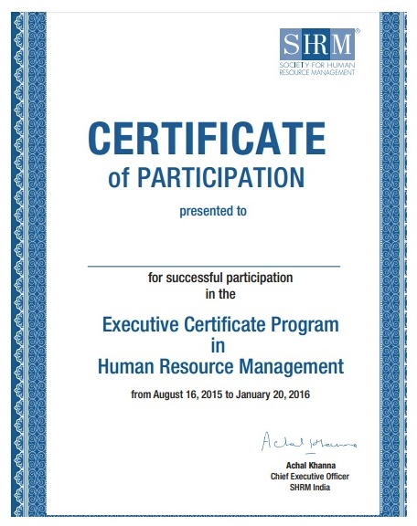 certified human resource (hr) management courses online