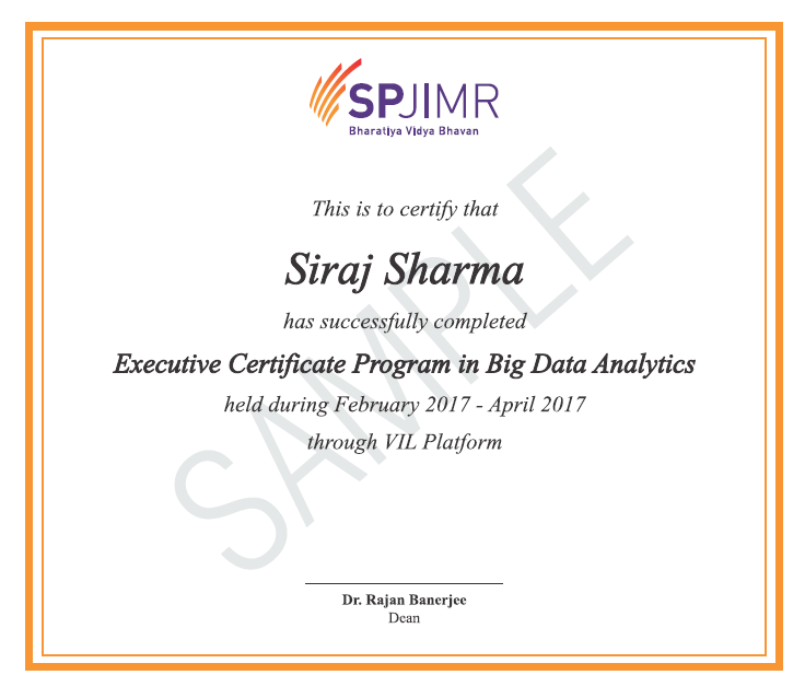Big Data Analytics Course & Certification Program in India from SPJIMR