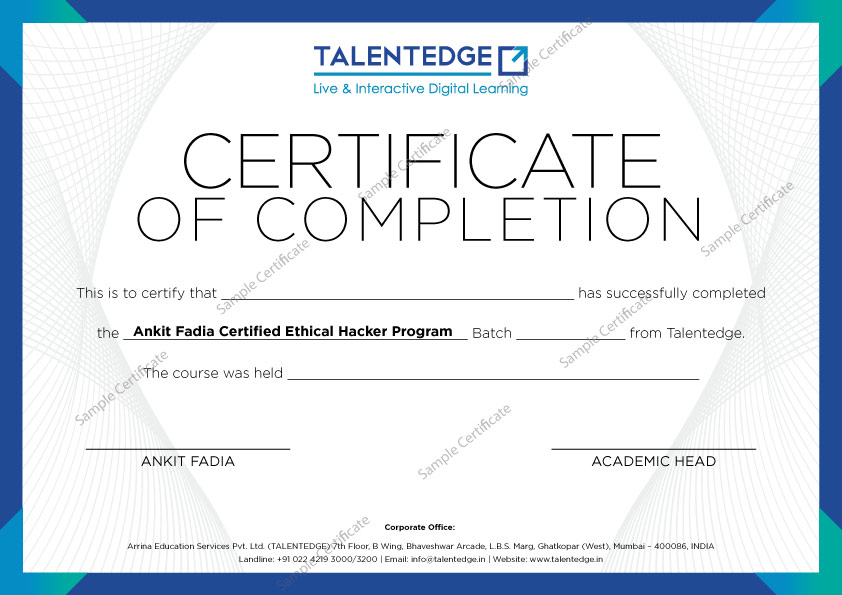 Certified Ethical Hacking Course By Ankit Fadia Ethical Hacking Books