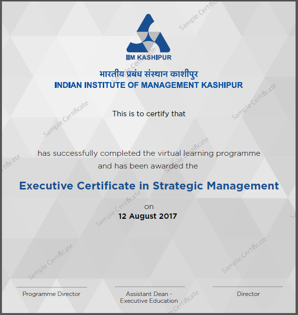 Strategic Management Course from IIM Kashipur | Online Certification ...