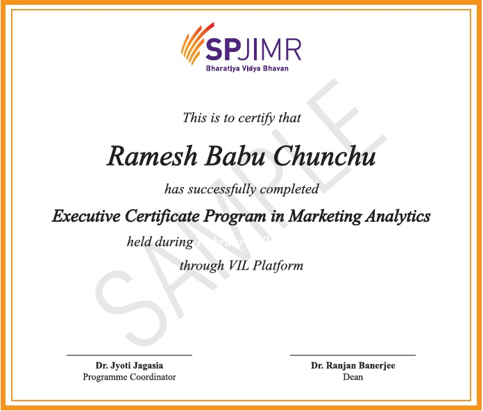 Online Marketing Analytics Course & Certification Program from SPJIMR