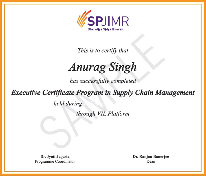 Supply Chain Management Courses Online Certification Program From