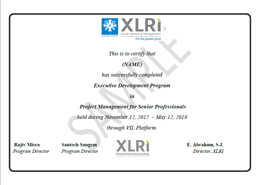 Project Management Courses Online Certification Program From Xlri