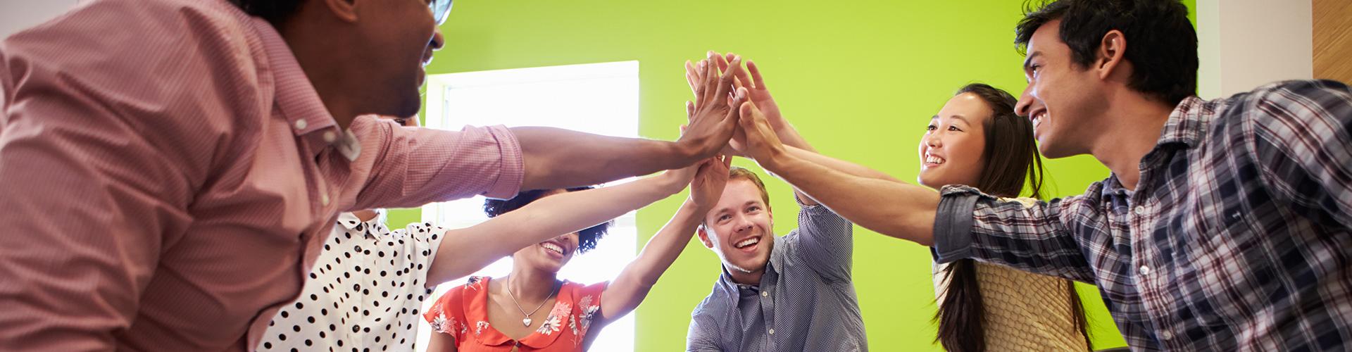 happy office team image