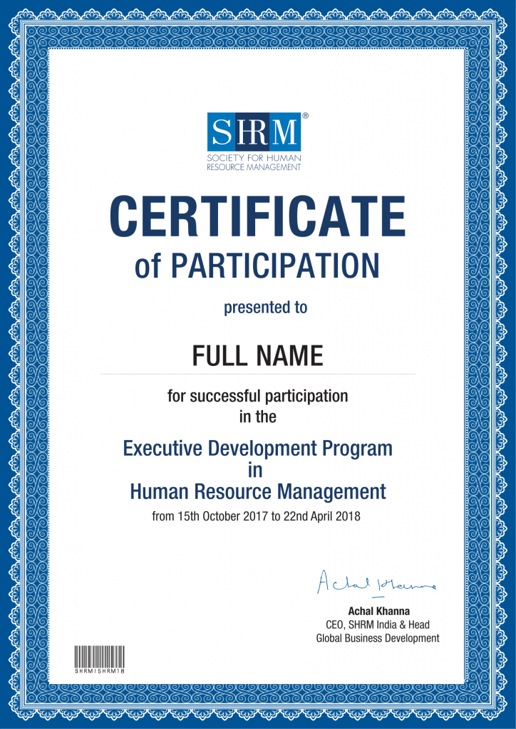 Human Resource Management Courses Online Hr Certification Course
