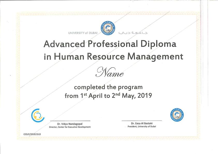 HR Management Courses in Dubai (UAE) from University of Dubai & SHRM