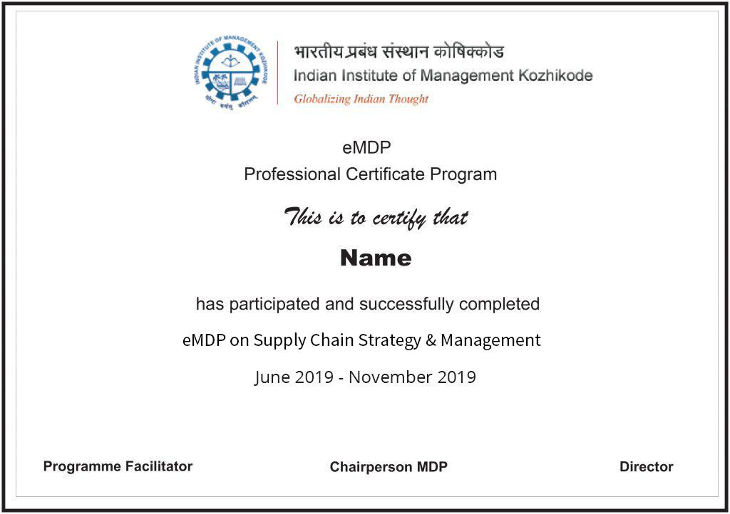 Supply Chain Strategy & Management from IIM Khozhikode