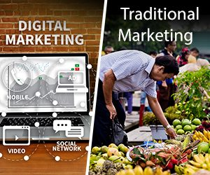 Difference between Traditional Marketing Vs Digital Marketing