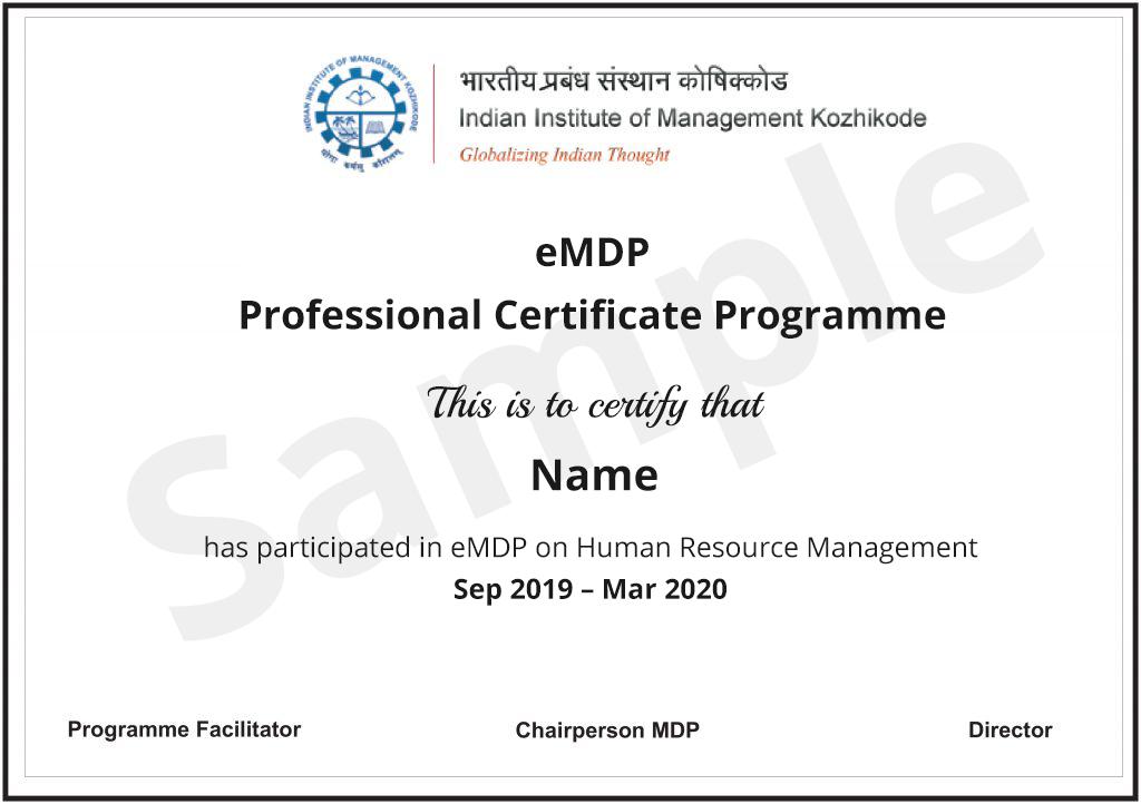 Human Resource (HR) Management Course Online from IIM Kozhikode