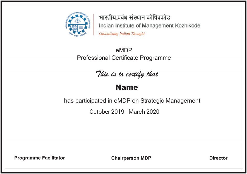 Strategic Management Certification from IIM Khozhikode | Strategic  Management Course