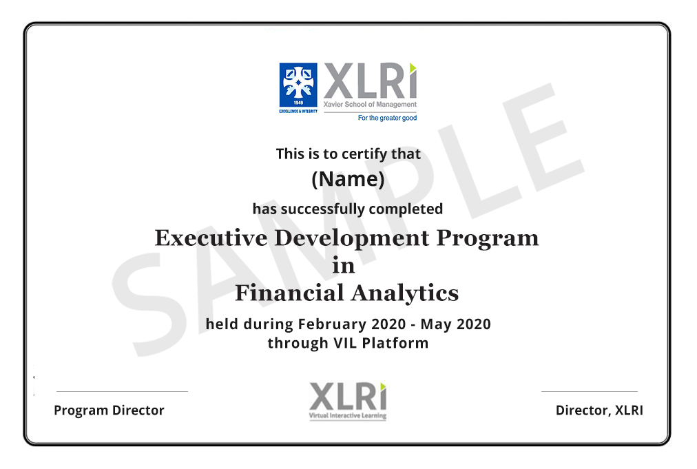 Financial Analytics Online Course by XLRI | Financial Analytics Course |  Talentedge